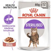 Royal Canin kapsička Sterilised 12x85g - v šťave