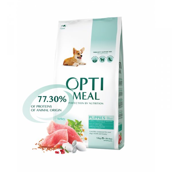 OPTIMEAL šteňa všetky plemená morčacie 12kg
