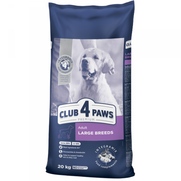 CLUB 4 PAWS Premium dog large breed 18+2 kg